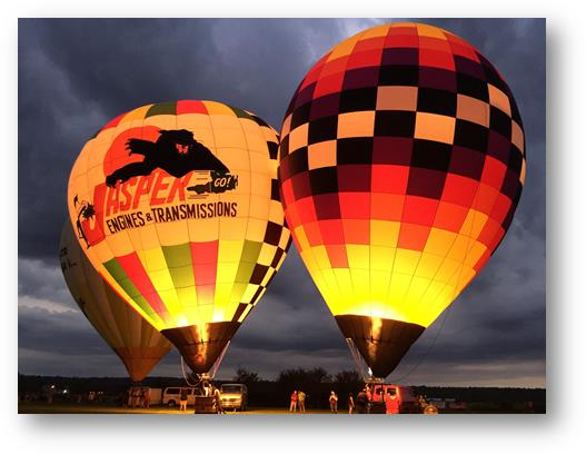 2017 Ohio Challenge Hot Air Balloon Event and Festival night's balloon glow