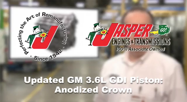 Updated GM 3.6L GDI Piston - Anodized Crown