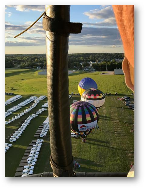 Bird's eye view from the JASPER Balloon.