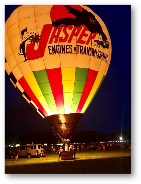 2017 Ohio Challenge Hot Air Balloon Event and Festival JASPER Balloon Glow