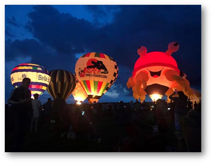 2017 Ohio Challenge Hot Air Balloon Event and Festival Glow